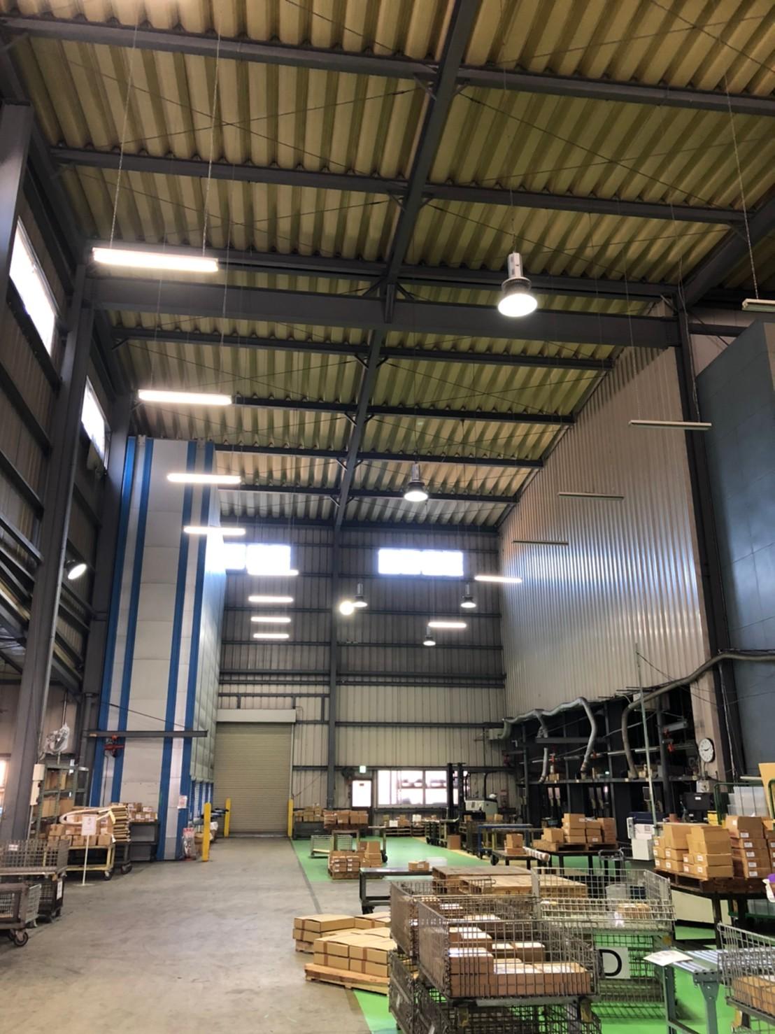 工場内ファン取付工事<高さ13メートル>